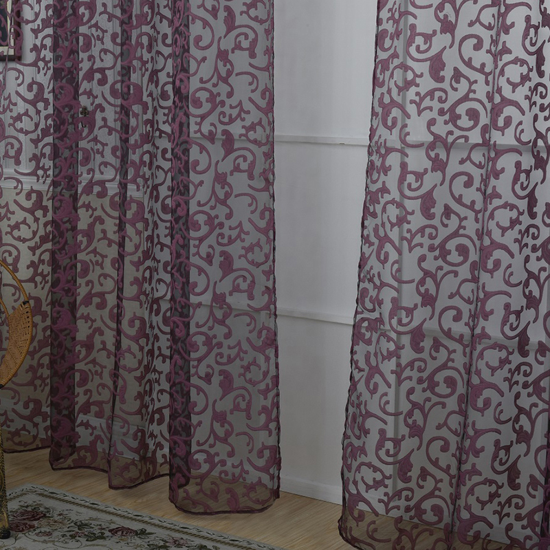 Uk Floral Pattern Voile Room Window Curtain Sheer Panel Drapes Scarfs Curtains Ebay