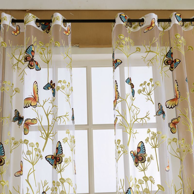 Baby Kids Bedroom Window Butterfly Door Balcony Sheer
