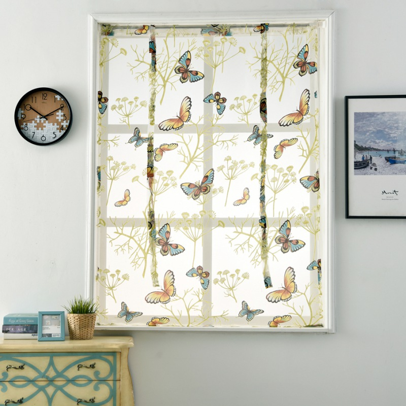 Door-Window-Curtain-Romantic-Floral-Tulle-Voile-Drape-Panel-Sheer-Scarf-Valance