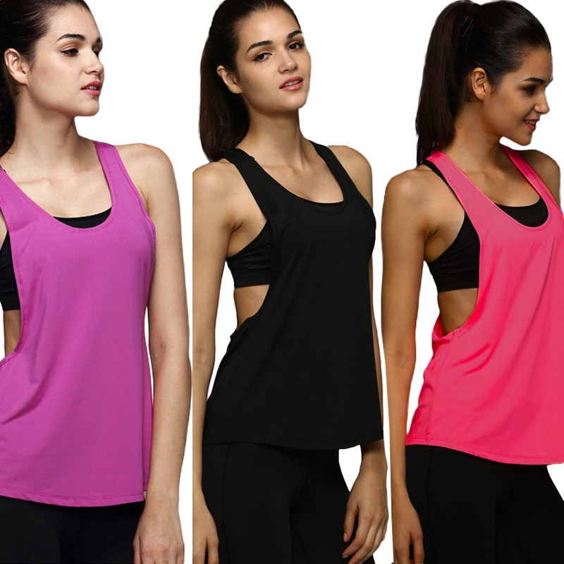 Details about Women Girl Loose Sports Vest Gym Fitness Training Running Tank  Tops Yoga Blouse d2708f9f8