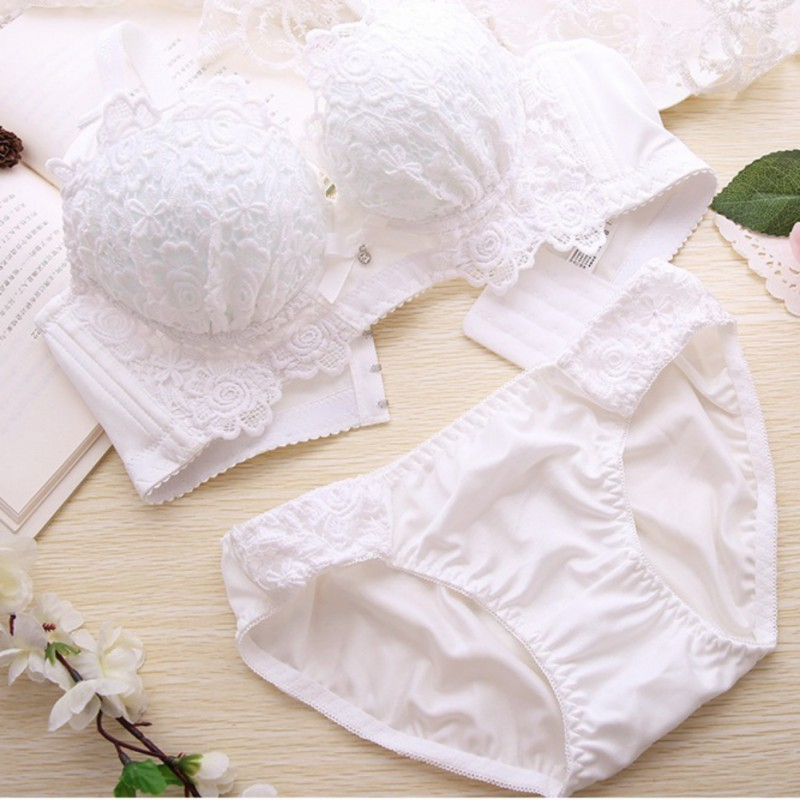 New-Women-039-s-Sexy-Sheer-Black-Lace-Padded-Push-Up-Bra-Set-Underwear-amp-Panties-Set