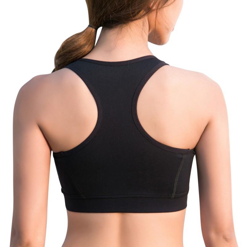US-Women-Front-Zipper-Bra-Crop-Tops-High-Impact-Sports-Running-Workout-Underwear thumbnail 15