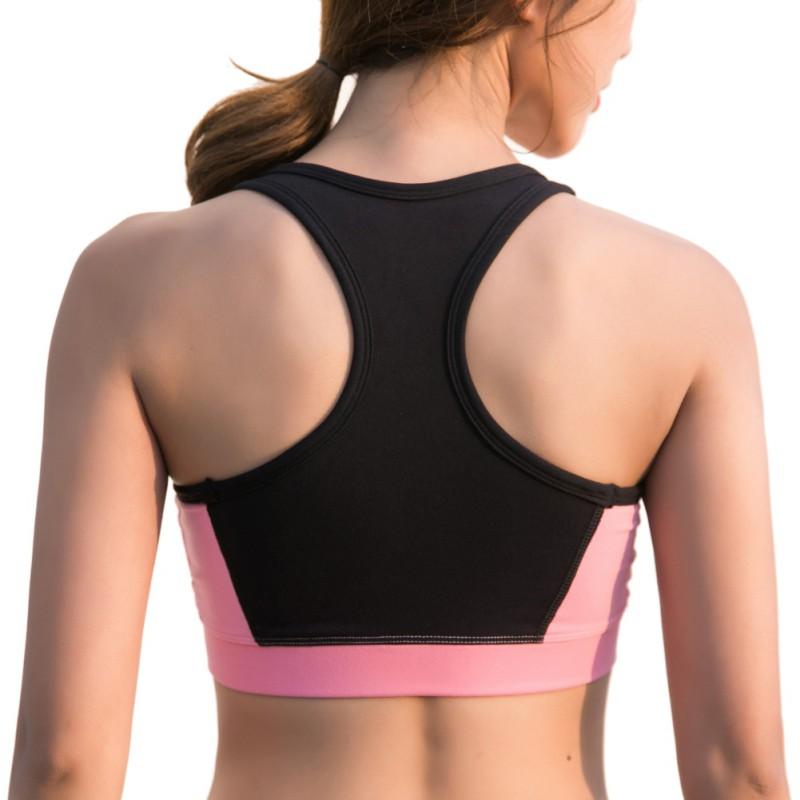 US-Women-Front-Zipper-Bra-Crop-Tops-High-Impact-Sports-Running-Workout-Underwear thumbnail 17