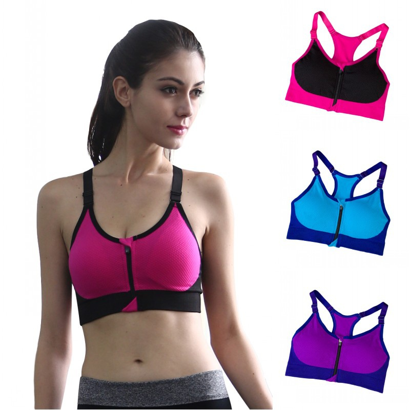 Women Ladies Padded Sports Bra Gym Sports Running Crop Tops Bra ...