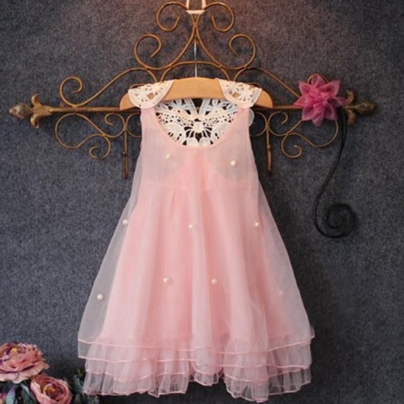 Baby Girls Princess Formal Tutu Dress Kids Wedding Bridesmaid Lace