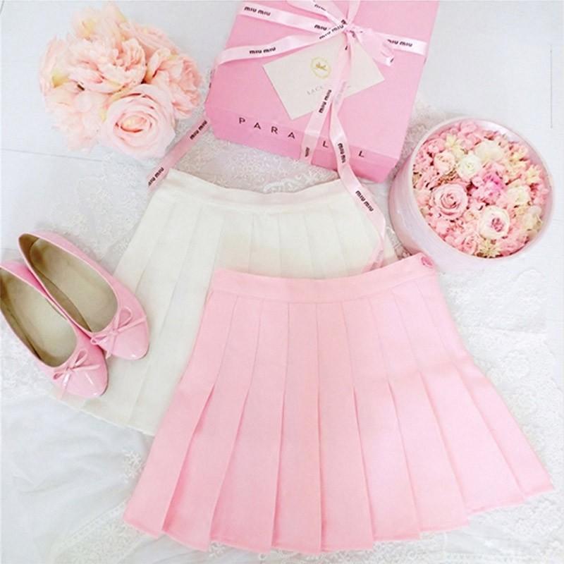 Womens-Summer-High-Waist-Pleated-Skirt-School-Girls-Short-Mini-Plaid-Skirt-Dress