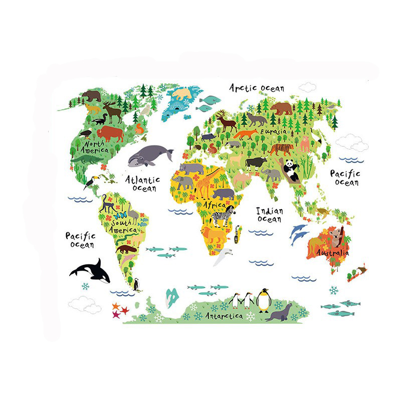Letter world map quote vinyl decal art mural home wall stickers resntentobalflowflowcomponenttechnicalissues gumiabroncs Image collections