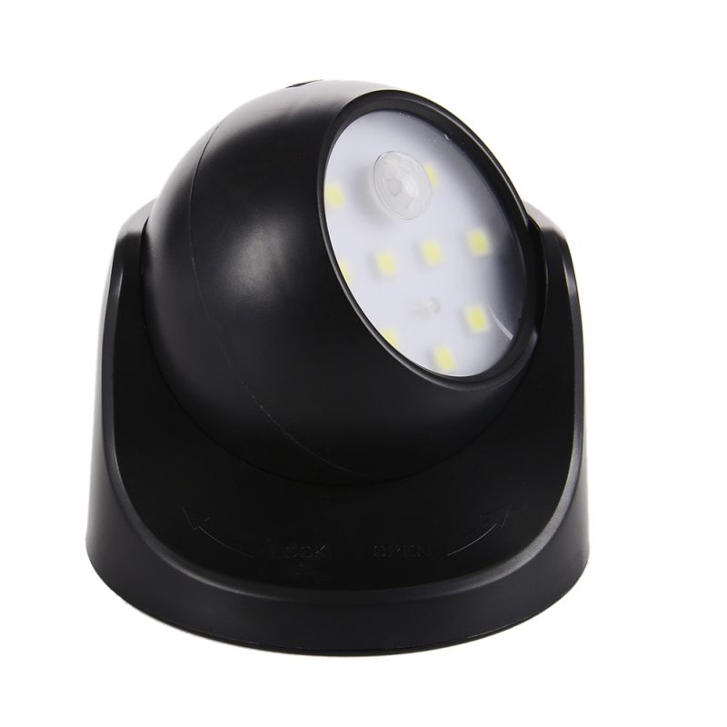 9 led motion sensor security wall light wireless light operated battery power us ebay. Black Bedroom Furniture Sets. Home Design Ideas