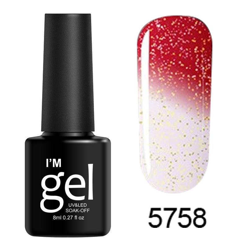 8ml Long Lasting Nail Polish LED UV Color-Chang Soak Off Gel Top ...