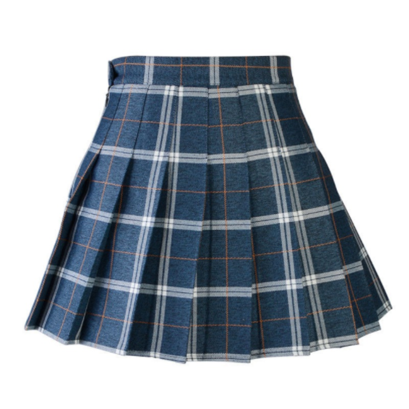 Women-School-Girls-Plaid-Pleated-Skirt-Dancewear-High-Waist-Tartan-Mini-Skirt-AU