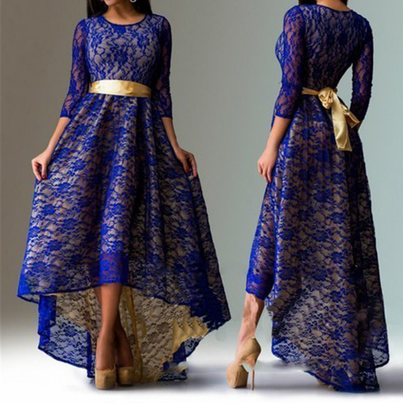 Plus Size Long Formal Dress with Sleeves