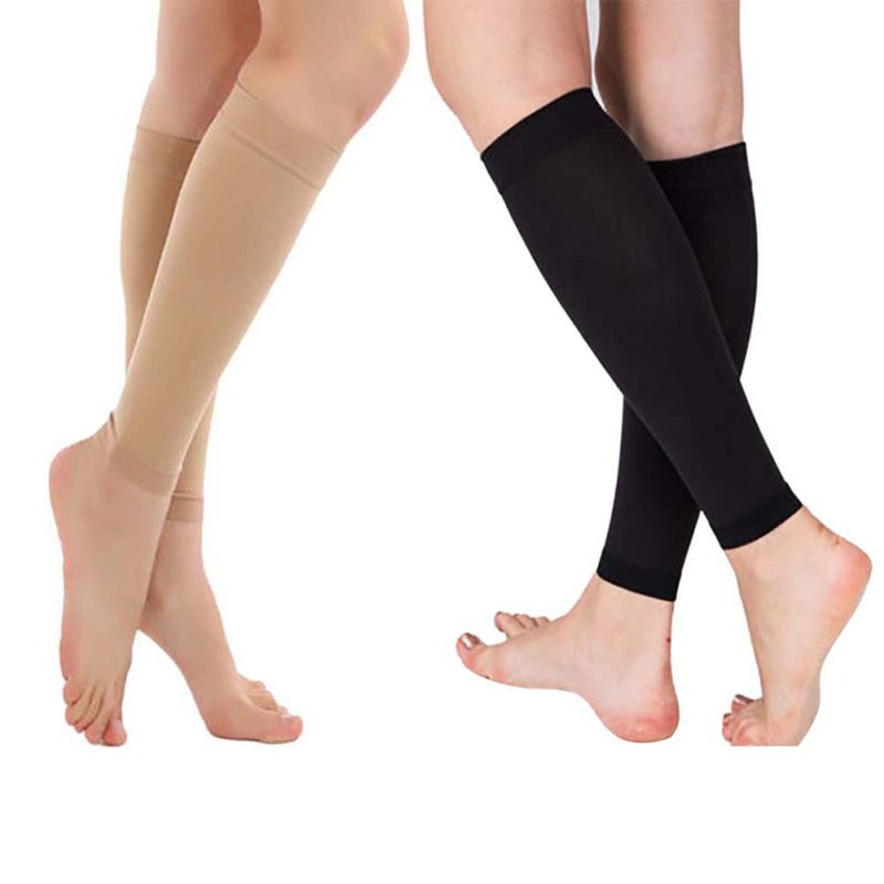 a87a555d127 Details about 20-30 mmhg Anti-Fatigue Knee High Stockings Mens Women  Compression Support Socks
