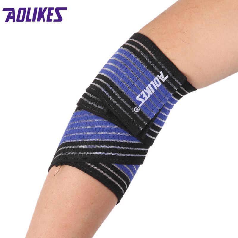 Sports-Wrist-Knee-Pad-Bracer-Thigh-Elbow-Brace-Strap-Support-Arm-Bandage-Wraps thumbnail 8