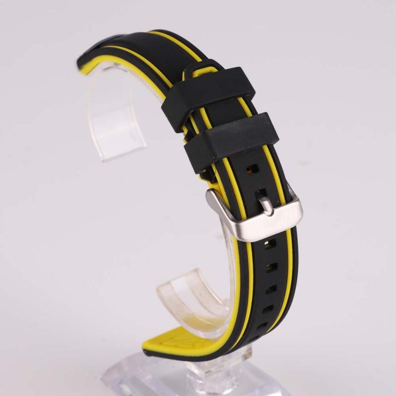 Indexbild 17 - 20-26mm Herren Silikon Armbanduhr Sport Taucher Wasserdichter Kautschukband