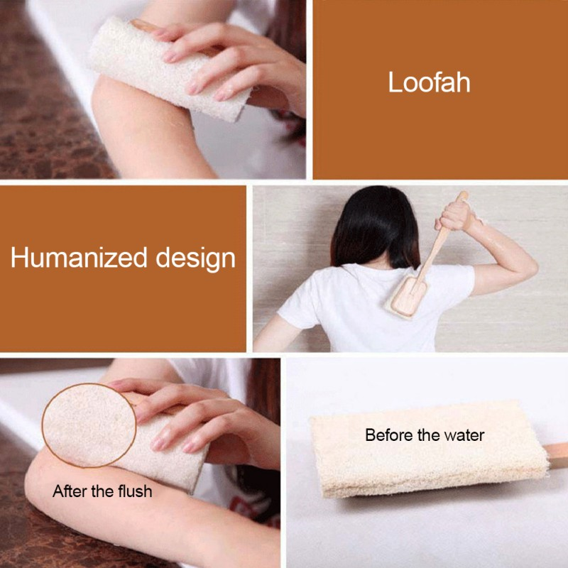 Natural-Loofah-Long-Wood-Handle-Shower-Bath-Body-