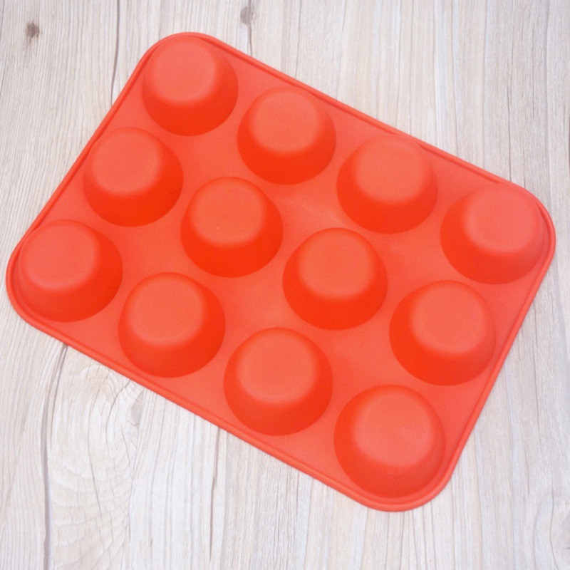 12 Mold In Pudding Silicone Mould Bakeware Round