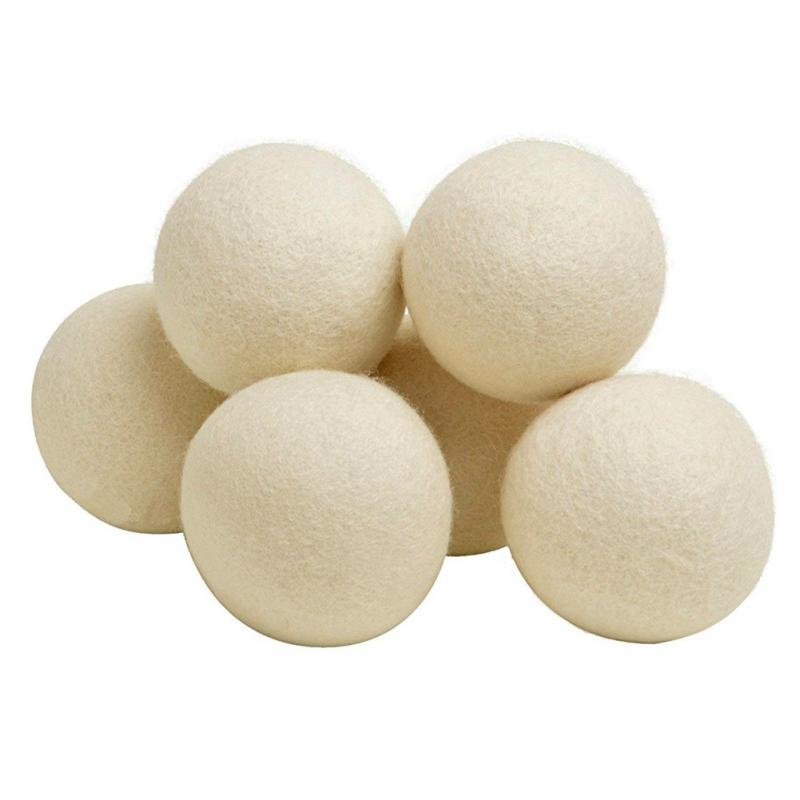 6Pack-Natural-Fabric-Softener-Wool-Dryer-Balls-Reusable-Dryer-Balls-Laundry-Tool thumbnail 13