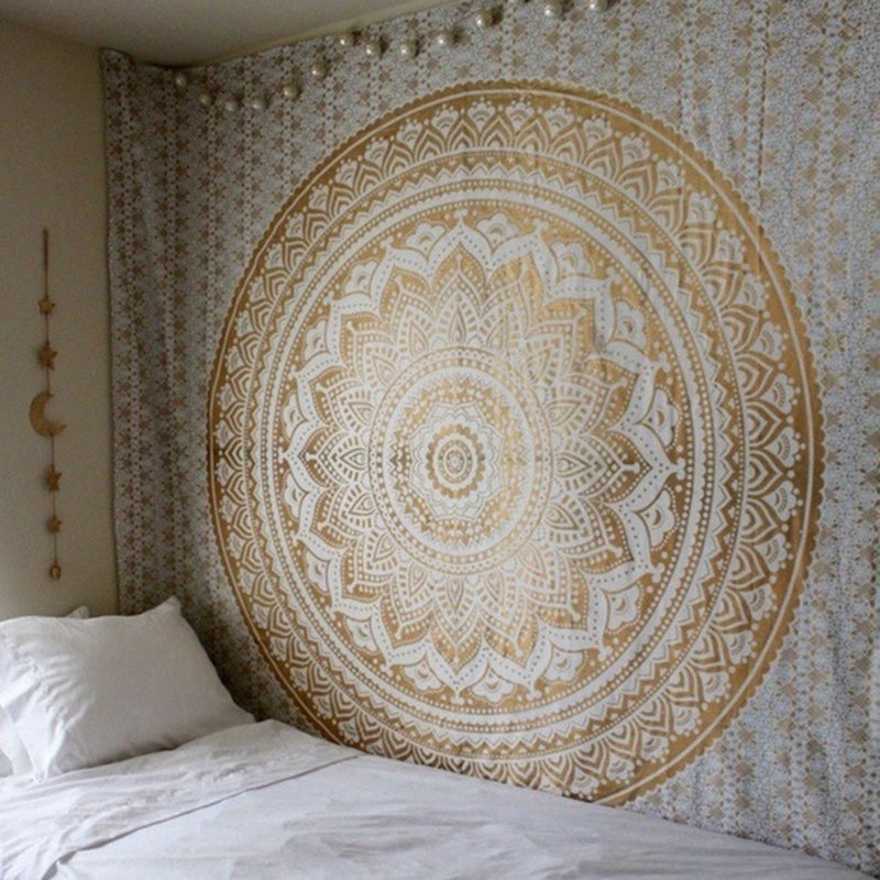 Mandala-Indian-Tapestry-Wall-Hanging-Decor-Bohe-Hippie-Queen-Bedspread-Throw-Mat