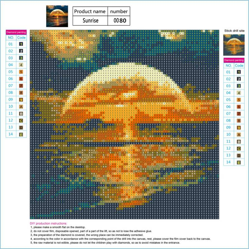 Full-Drill-DIY-5D-Diamond-Landscape-Painting-Embroidery-Crafts-Cross-Stitch-Kit thumbnail 18