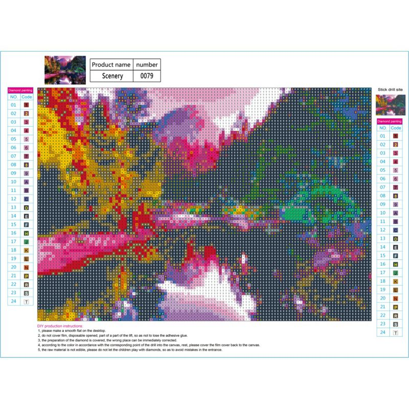 Full-Drill-DIY-5D-Diamond-Landscape-Painting-Embroidery-Crafts-Cross-Stitch-Kit thumbnail 20