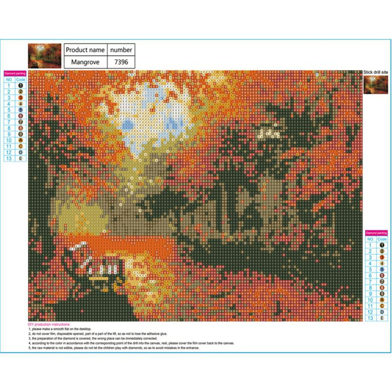 Full-Drill-DIY-5D-Diamond-Landscape-Painting-Embroidery-Crafts-Cross-Stitch-Kit thumbnail 22