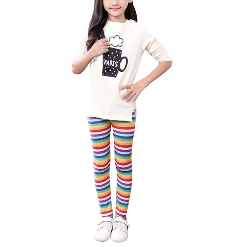2-13Y Fashion Toddler Baby Kids Girl Colorful Slim Leggings Floral Print Pants