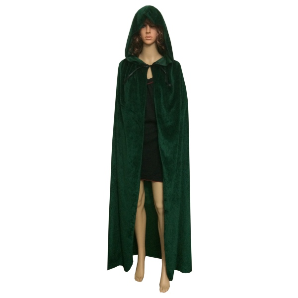 Velvet-Hooded-Cloak-Cape-Medieval-Pagan-Witch-Wicca-  sc 1 st  eBay & Velvet Hooded Cloak Cape Medieval Pagan Witch Wicca Vampire ...
