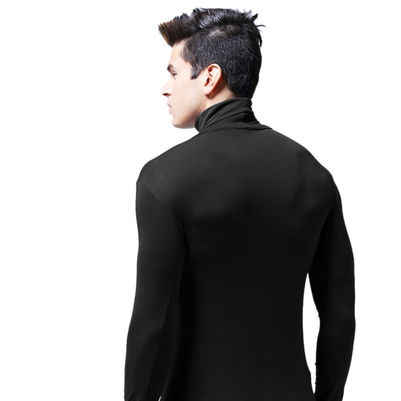 Fashion-Mens-Slim-Fit-Turtleneck-Long-Sleeve-Muscle-Tee-T-shirt-Casual-Tops-USA thumbnail 13
