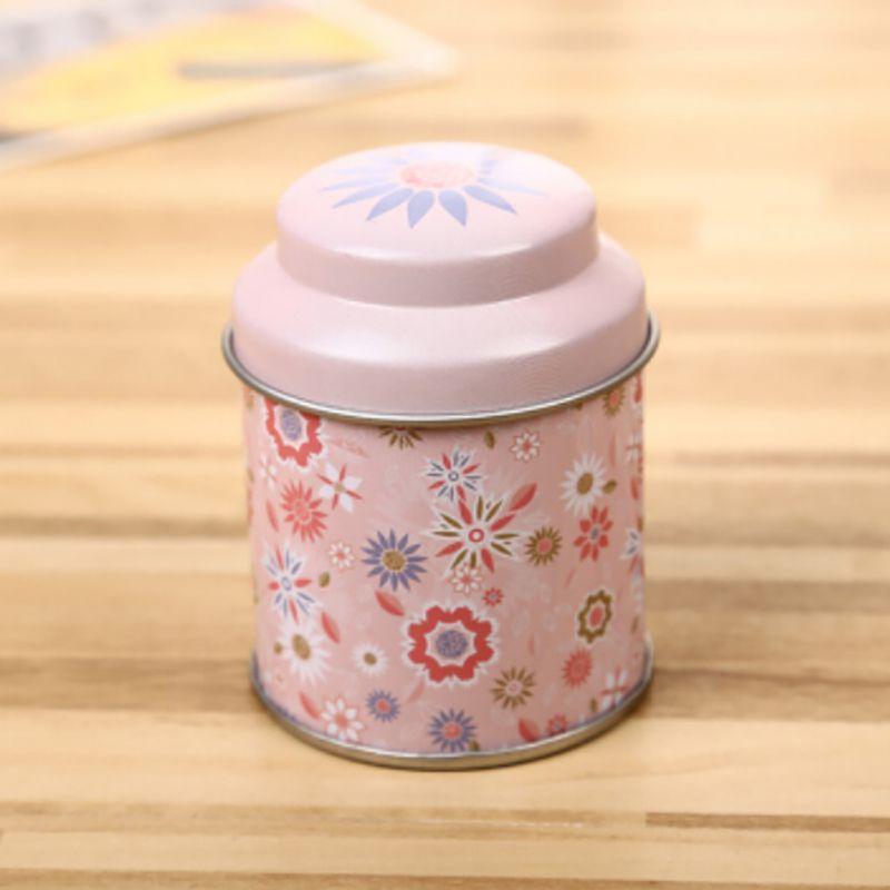 cute flower metal sugar candy tin jar coffee tea container