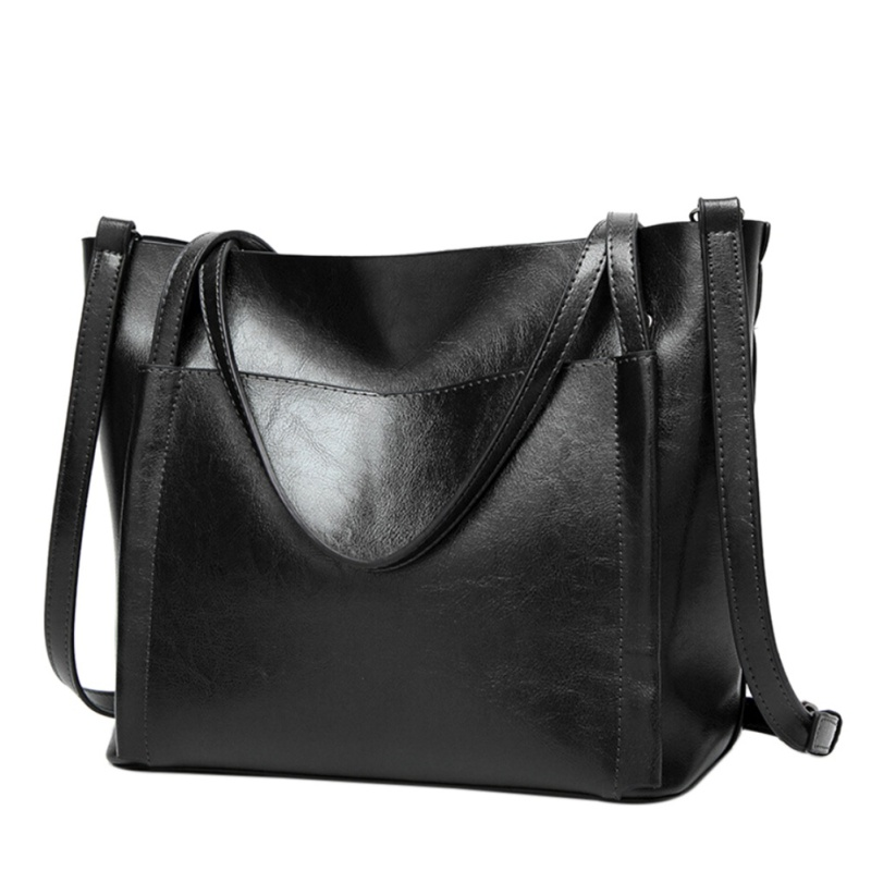 Women Leather Tote Handbags Large Capacity Lady Shoulder