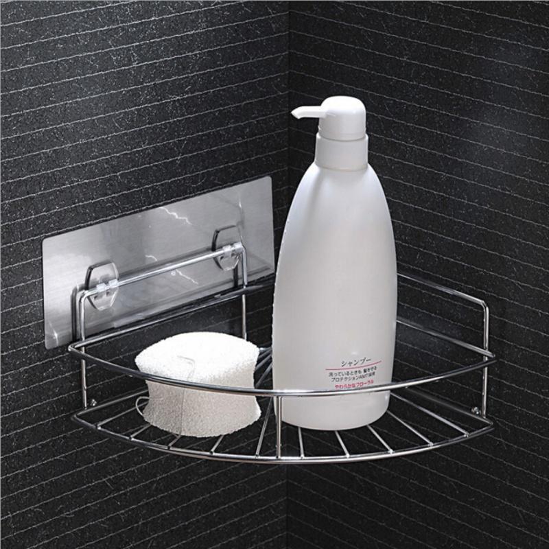 Bathroom Corner Storage Shower Rack Shelf Basket Cup Caddy