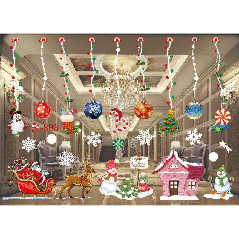Christmas Snowflake Decals Show Window Glass Wall Stickers ...