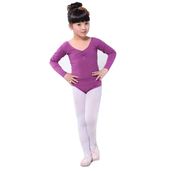 a7a9e36e6 Child Kids Girls Long Sleeve Ballet Dance Clothes Gymnastics Leotard ...