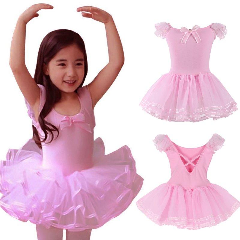 5c5712c67d9d 3-8Y Toddler Kids Girls Ballet Dance Tutu Dress Gym Leotard ...