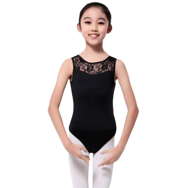 Toddler-Kids-Girls-Solid-Ballet-Leotard-Dancer-Lace-Dress-Gym-Dancewear-Tutu-AU