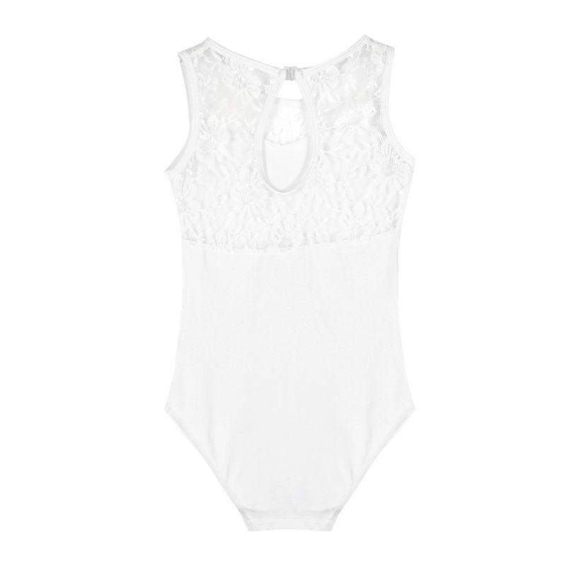 Kids-Girls-Leotard-Lace-Ballet-Dance-Costume-Sleeveless-Dancewear-Bodysuit-4-15Y