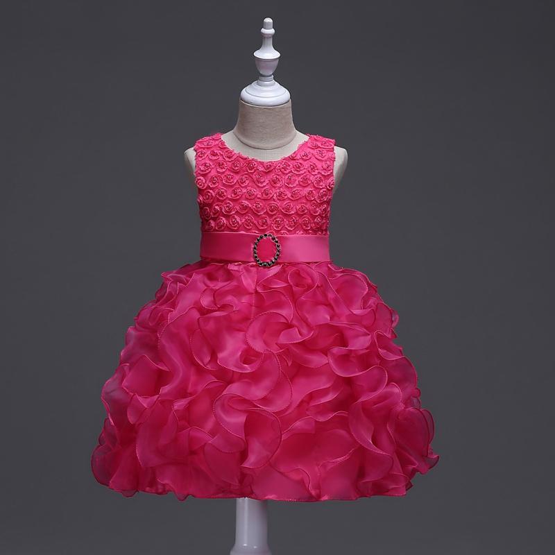 Baby Girl Flower Tutu Dress Toddler Princess Wedding Party