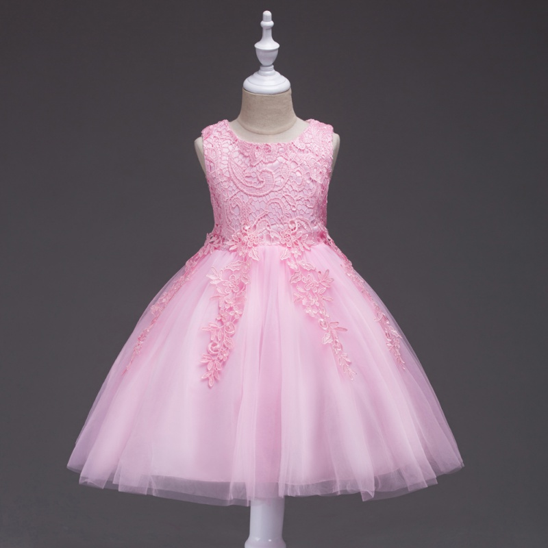 Flower Baby Kids Girl Princess Lace Bridesmaid Wedding Dress Gown ...