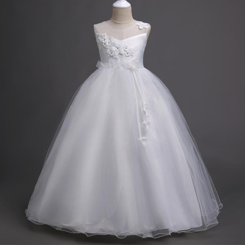 Pageant Flower Girl Dress Kids Birthday Wedding Bridesmaid Gown ...
