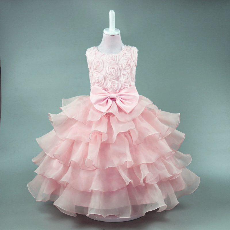 Kids Baby Girl Princess Dress Party Wedding Bridesmaid Pageant ...