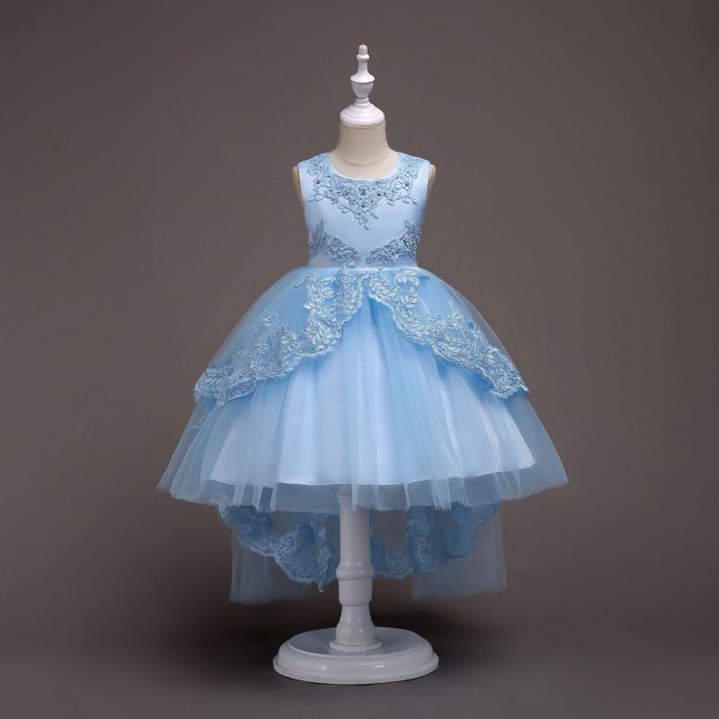 US Kids Girl Flower Wedding Bridesmaid Dress Party Pageant Beauty ...
