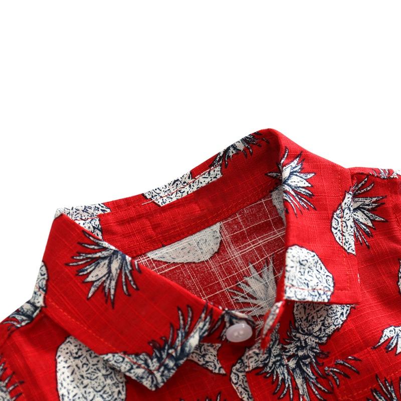 Kids-Baby-Short-Sleeve-Boho-Floral-Romper-Bodysuit-Boys-Summer-Hawaiian-Jumpsuit thumbnail 12