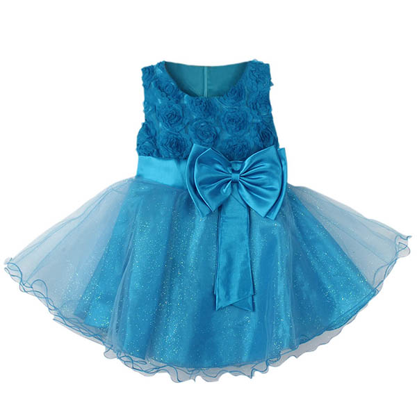 Flower Girl Princess Pageant Wedding Party Formal Gown Kid Baby Lace