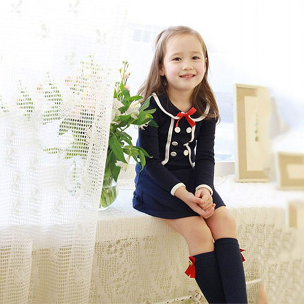 Toddler Baby Girls Beauty England Style Mini Dress Tops Pullover Jacket Outwear