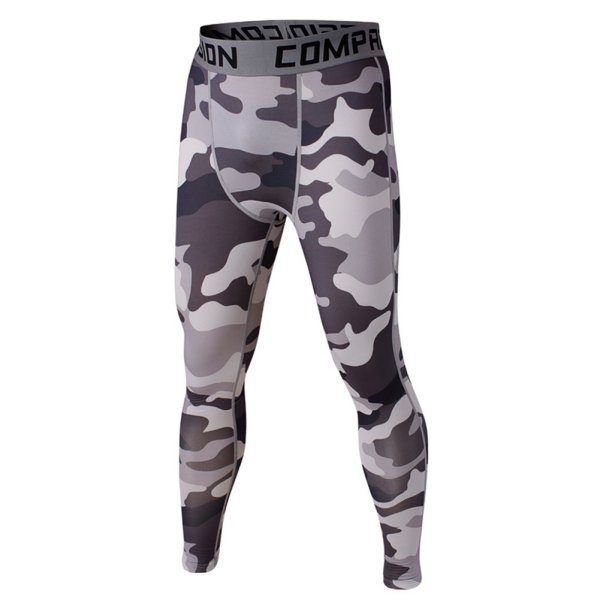 Fitness Leggings Camo: Sports Mens Compression Camo Fitness Tights Trousers Base
