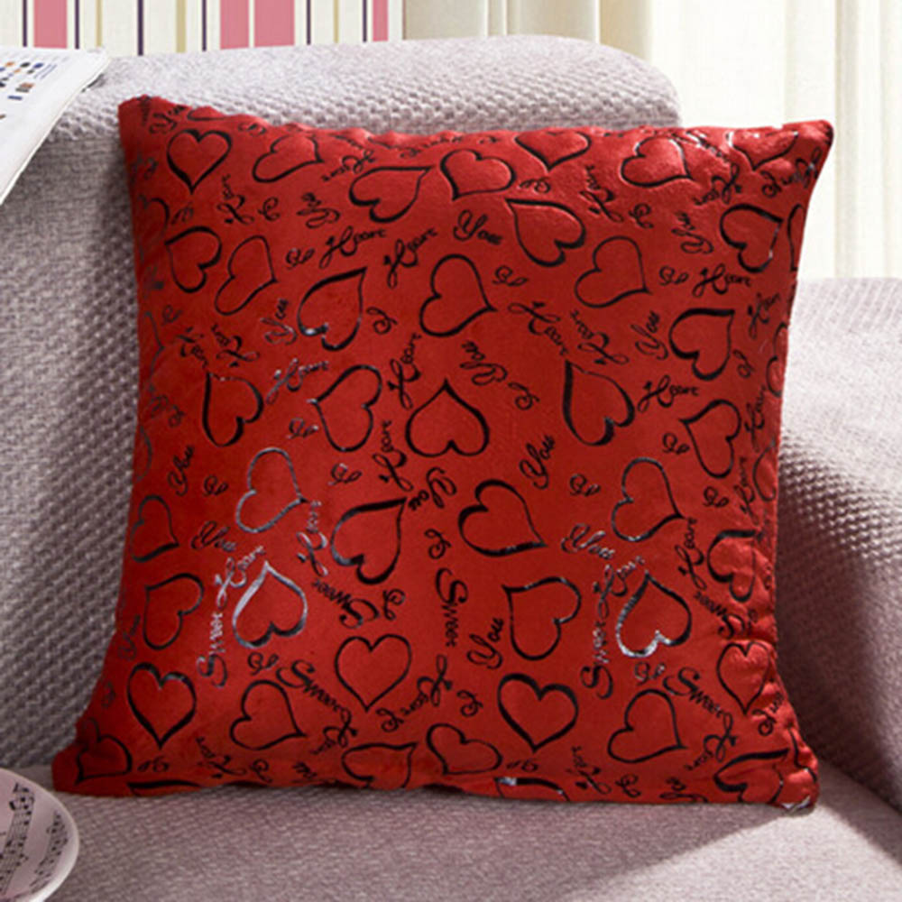 Heart Retro Throw Pillow Cases Home Bed Sofa Decorative Cushion Cover 16x16