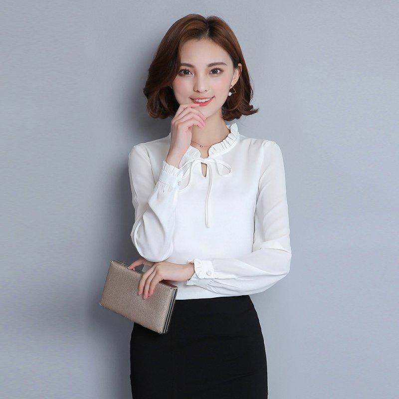 AU-Women-Long-Sleeve-Chiffon-Shirt-Blouse-Office-Lady-Business-Suit-Workwear-Top