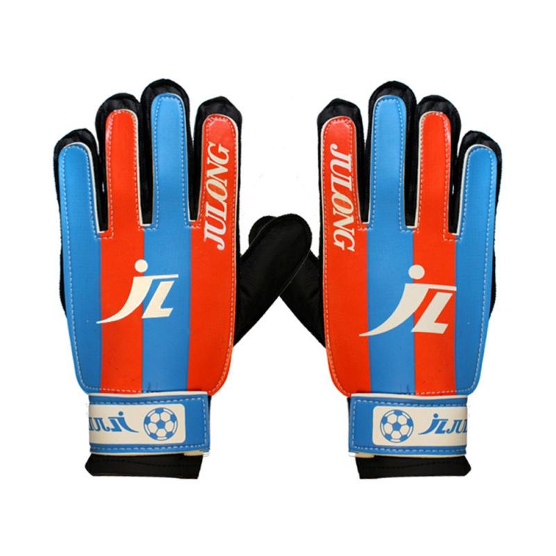 Sport-Football-Goalkeeper-Goalie-Gloves-Soccer-Cool-Kids-black-Finger-protection