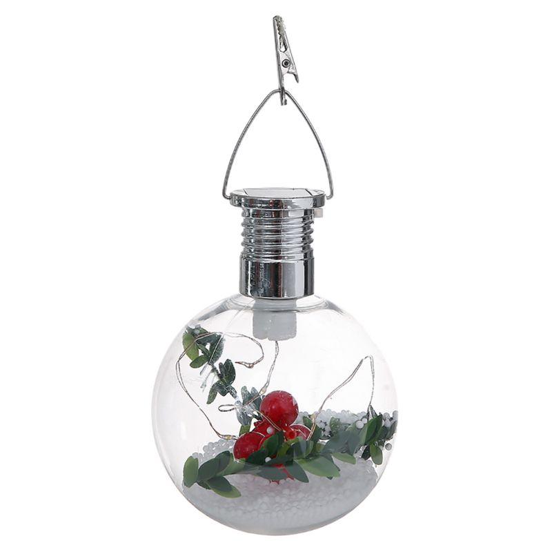 Solar Lights Christmas Tree Shop: 5 LED Solar Bulb Ball Hanging Night Lights String Lamp