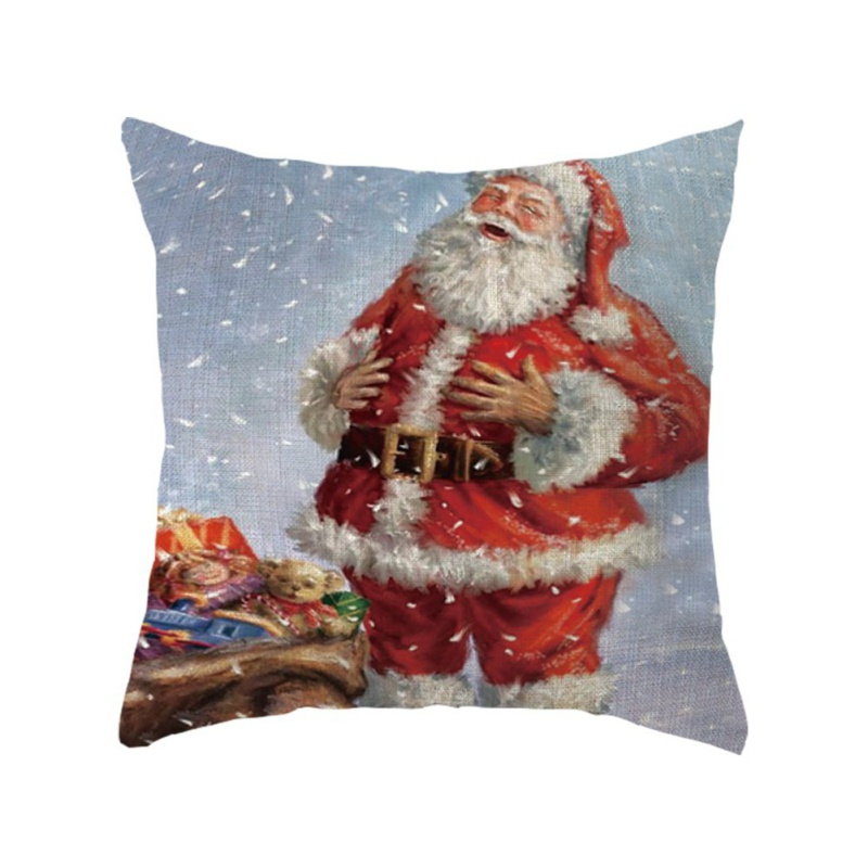 Christmas-Cotton-Velvet-Sofa-Waist-Cushion-Throw-Pillow-Case-Cover-Home-Decor thumbnail 34